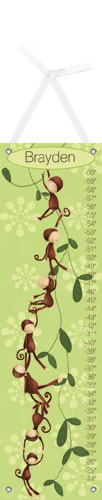 Green Monkeying Around Growth Chart by Oopsy daisy