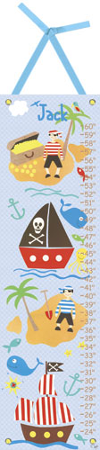 Collage Pirate Growth Chart by Oopsy daisy
