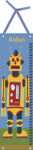 Yellow Robot Growth Chart by Oopsy daisy