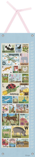 Blue Modern Alphabet Growth Chart by Oopsy daisy
