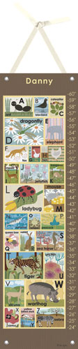 Chocolate Modern Alphabet Growth Chart by Oopsy daisy