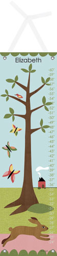 Modern Bunny Growth Chart by Oopsy daisy