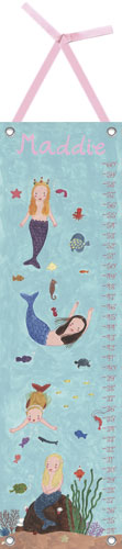 Mermaids Growth Chart by Oopsy daisy