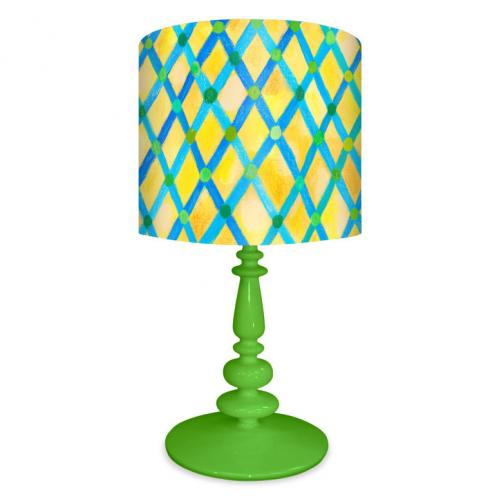 Moroccan Painted Pattern Lamp on Green Base by Oopsy daisy Thumbnail