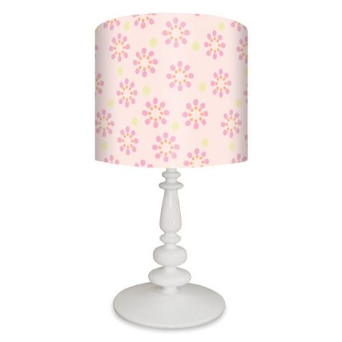 Powder Pink Starburst Lamp on White Base by Oopsy daisy Thumbnail