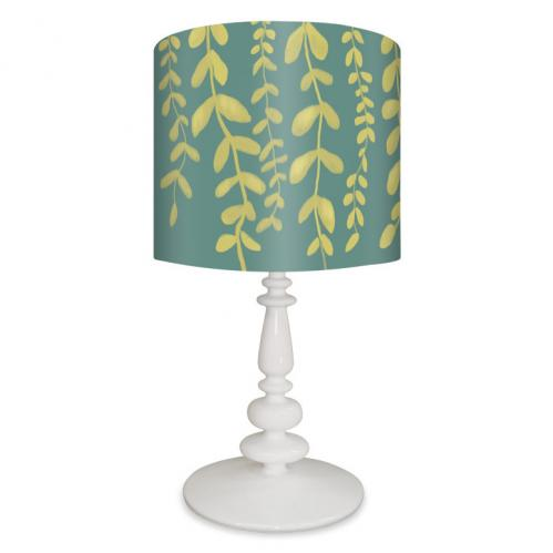 Vines on Blue Kid's Lamp on White Base by Oopsy daisy Thumbnail