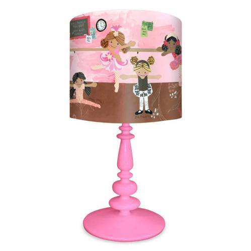 Ballet Class Kid's Lamp on Pink Base by Oopsy daisy Thumbnail