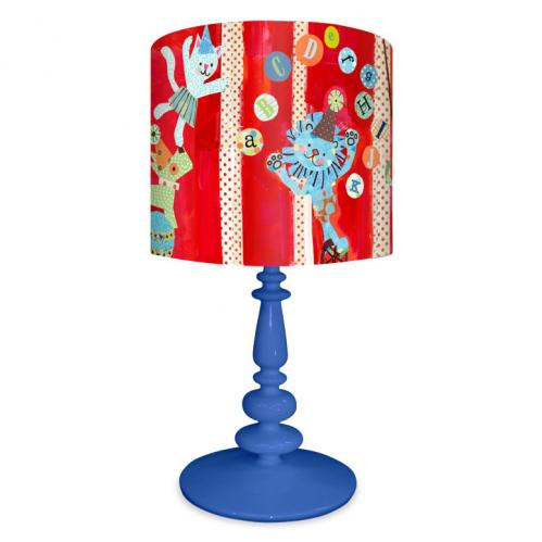 Big Top Circus Alphabet Kid's Lamp on Blue Base by Oopsy daisy Thumbnail