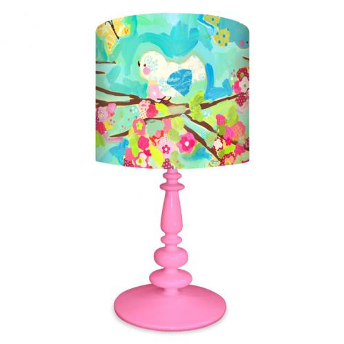Cherry Blossom Birdies Pink Base Lamp by Oopsy daisy Thumbnail
