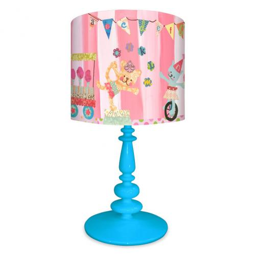 Cotton Candy Circus Alphabet Kid's Lamp on Blue Base by Oopsy daisy Thumbnail