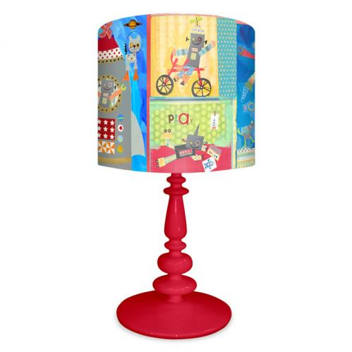Ready Robots Boy's Lamp on Red Base by Oopsy daisy Thumbnail