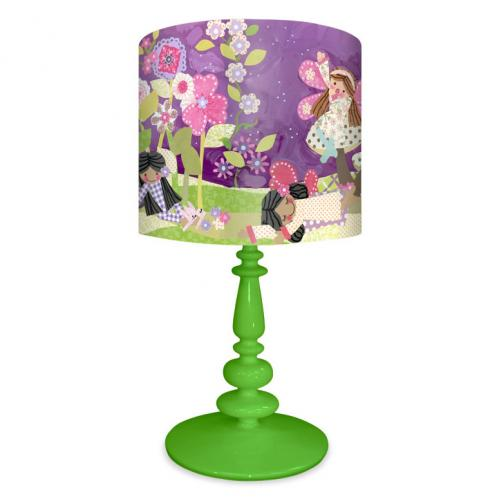 Slumbering Fairies Kid's Lamp on Green Base by Oopsy daisy Thumbnail