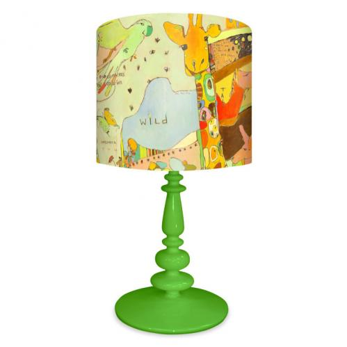 Animal Kingdom Kid's Lamp on Green Base by Oopsy daisy Thumbnail
