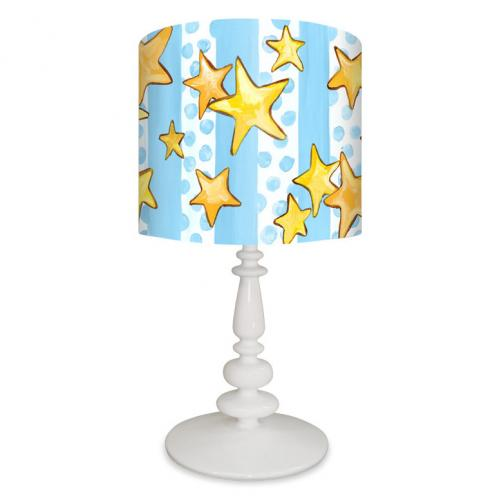 Dots and Stars Kid's Lamp on White Base by Oopsy daisy Thumbnail