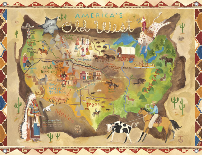 America\'s Old West Kids\' Mural by Oopsy daisy