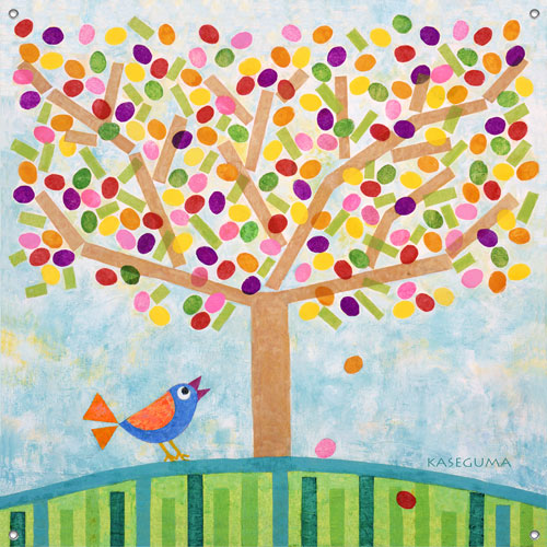Jellybean tree girls 39 mural by oopsy daisy for Daisy fuentes wall mural