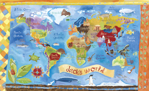 our world kids 39 mural by oopsy daisy main thumbnail. Black Bedroom Furniture Sets. Home Design Ideas
