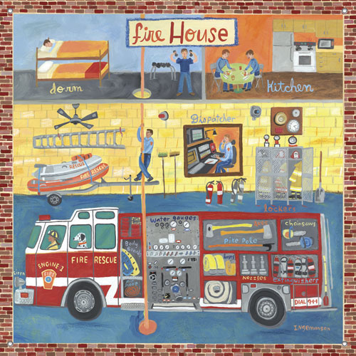 Firehouse Boys' Mural by Oopsy daisy