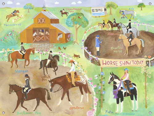 Horse Show Kids' Mural by Oopsy daisy