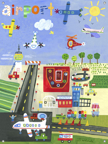 Airport Kids' Mural by Oopsy daisy