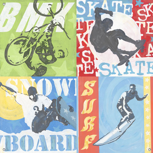 Extreme Sports Boys' Mural by Oopsy daisy