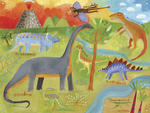 Dinoscape Childrens' Mural by Oopsy daisy