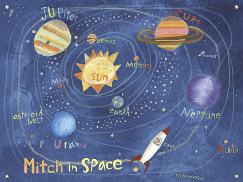In Space Solar System Mural by Oopsy daisy Thumbnail