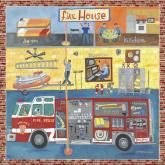 Firehouse Boys Mural by Oopsy daisy