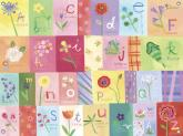 A-Z Flowers Kids' Mural by Oopsy daisy
