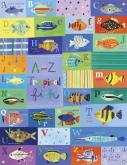 A-Z Tropical Fish Kids Mural by Oopsy daisy