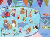 Animal Orchestra Kids' Mural by Oopsy daisy