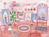 Boutique Girls' Mural by Oopsy daisy