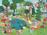 Forest Fairies Girls' Mural by Oopsy daisy