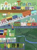 Train Station Kids' Mural by Oopsy daisy