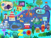 Trip to  the Zoo Kids' Mural by Oopsy daisy