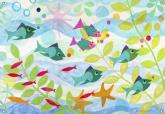 Friendly Fish Kids' Mural by Oopsy daisy