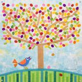 Jellybean Tree Girls' Mural by Oopsy daisy