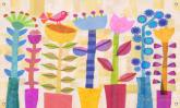 Spring Jazz Panoramic Kids' Mural by Oopsy daisy