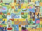 ABC Animal Action Kids Mural by Oopsy daisy