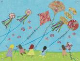 Kite Day Girls Mural by Oopsy daisy