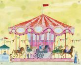 Carousel Childrens Mural by Oopsy daisy