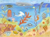 Ocean World Wall Mural by Oopsy daisy