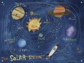 In Space Solar System Mural by Oopsy daisy