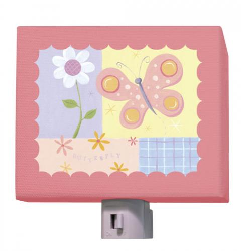 Butterfly Plaid Nightlight by Oopsy daisy