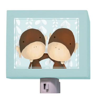 Two of a Kind Blue Nightlight by Oopsy daisy