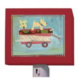 Pup on a Wagon Nightlight by Oopsy daisy