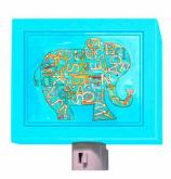 Blue Alphabet Elephant Nightlight by Oopsy daisy
