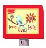 Love Lives Here Nightlight by Oopsy daisy