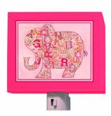 Pink Alphabet Elephant Nightlight by Oopsy daisy