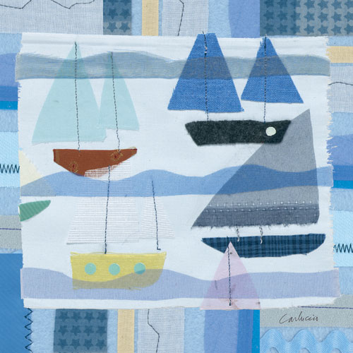 Blue Sailboats by Oopsy daisy